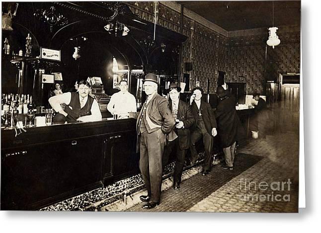At The Bar Greeting Card by Jon Neidert