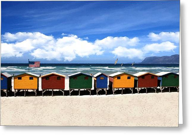 Greeting Card featuring the photograph At The Beach by David Dehner
