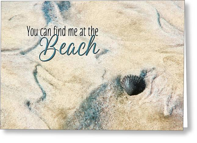 At The Beach Greeting Card by Lori Deiter