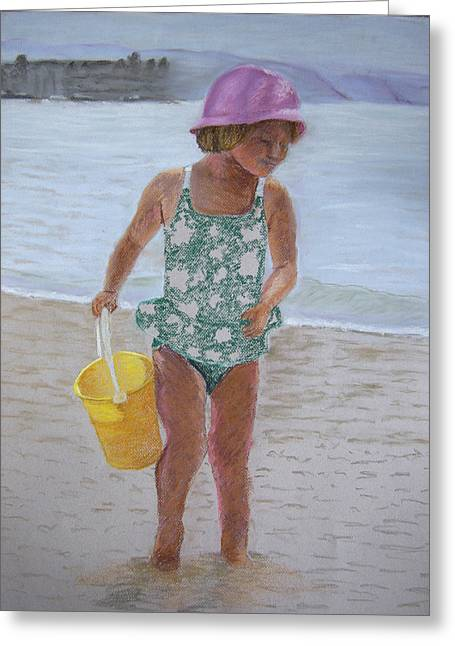 At The Beach Greeting Card by Marina Garrison