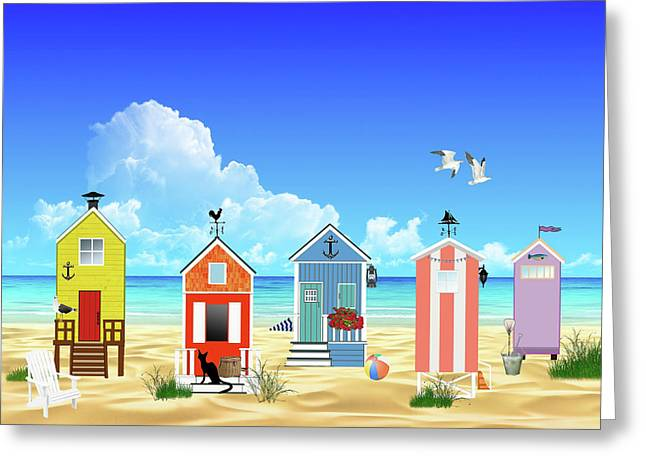 At The Beach Greeting Card by Movie Poster Prints