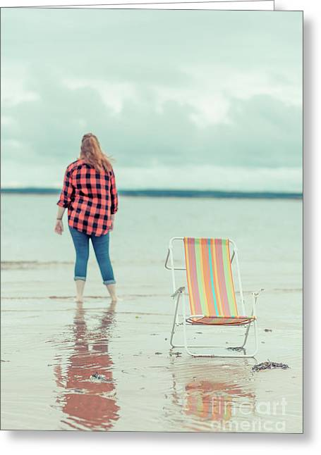 At The Beach New London Prince Edward Island Greeting Card