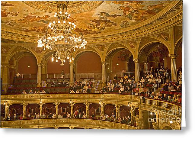 At The Budapest Opera Greeting Card by Madeline Ellis