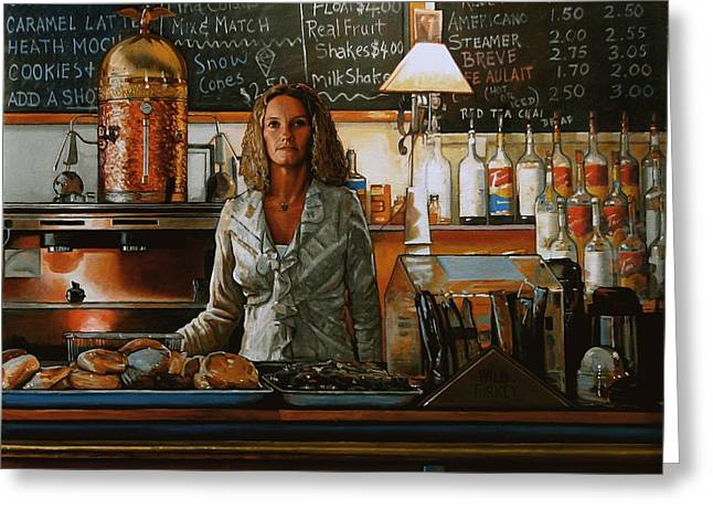At The Coffee Mill Greeting Card by Doug Strickland