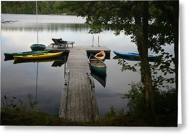 At The Country Dock Greeting Card by Dennis Curry