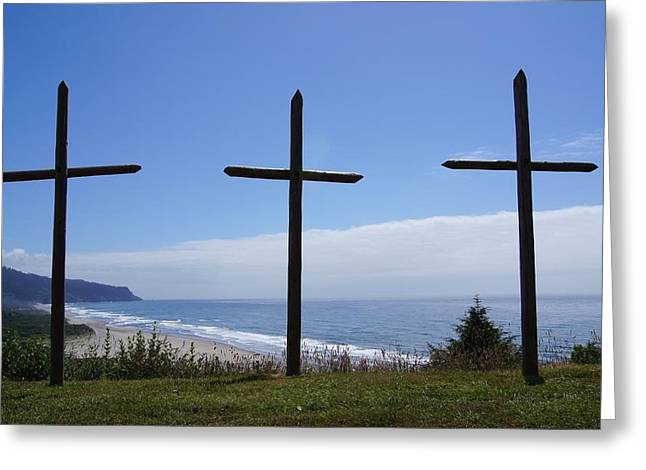 At The Cross Greeting Card by Angi Parks