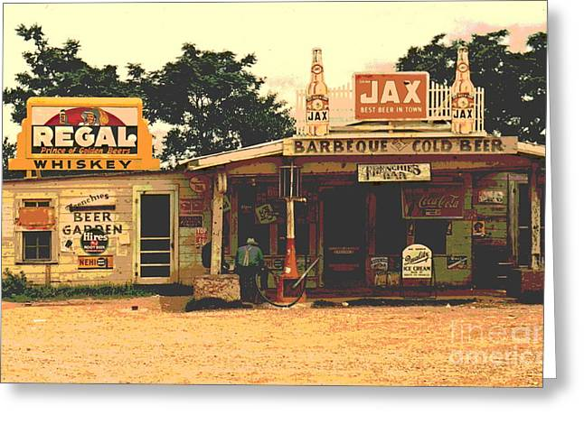 At The Crossroads Greeting Card by Padre Art