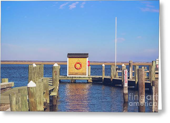 At The Dock Greeting Card by Colleen Kammerer