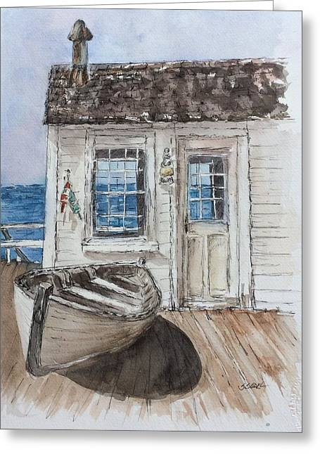At The Dock Greeting Card by Stephanie Sodel