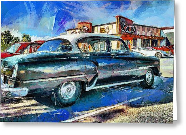 At The Drive-in Greeting Card by Gene Healy