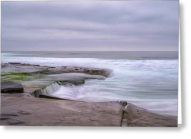 At The Edge Of The Sea Greeting Card