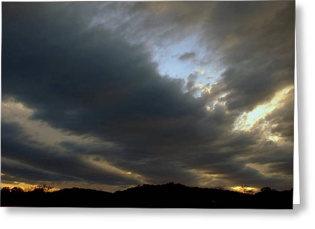At The End Of The Day Greeting Card by Karen Musick