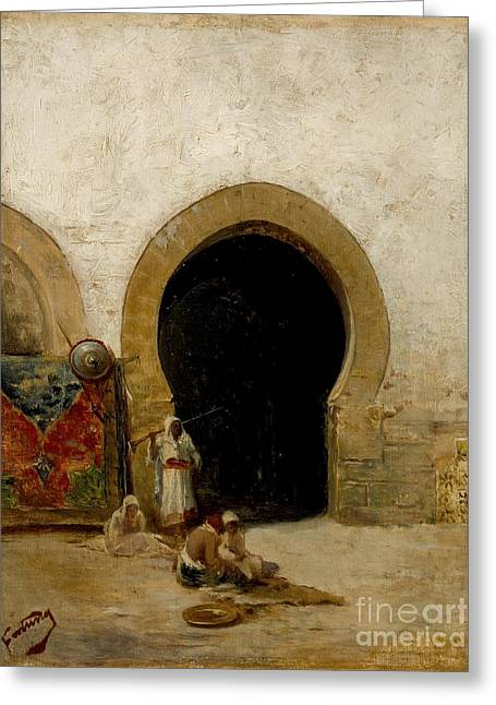 At The Gate Of The Seraglio Greeting Card