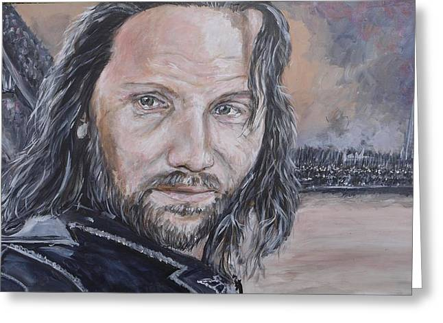 At The Gates Of Mordor Greeting Card by Duncan Sawyer