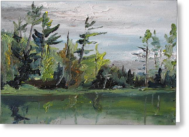 At The Lake Greeting Card by Francois Fournier