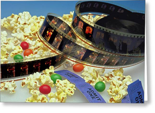 At The Movies  Greeting Card by Marie Hicks