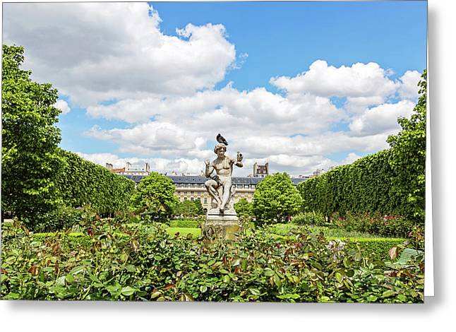 Greeting Card featuring the photograph At The Palais Royal Gardens by Melanie Alexandra Price