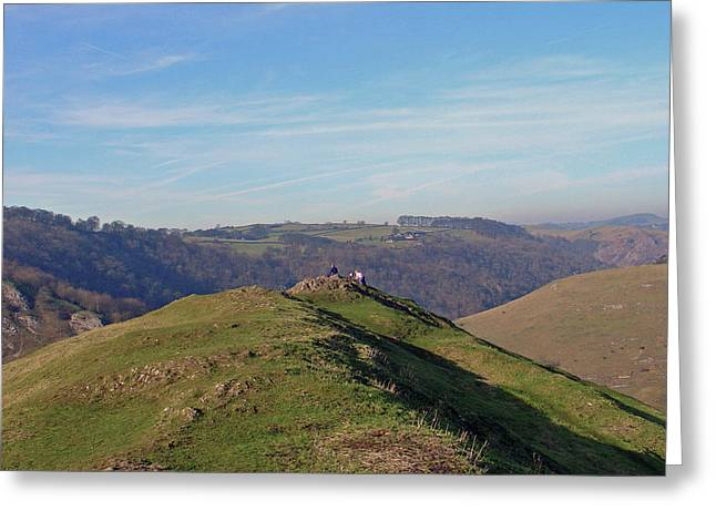 At The Peak Greeting Card by Rod Johnson