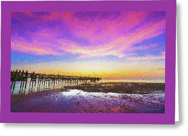 At The Pier Greeting Card by Marvin Spates
