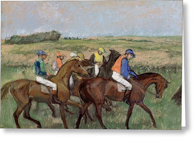 At The Races  1885 Greeting Card by Edgar Degas