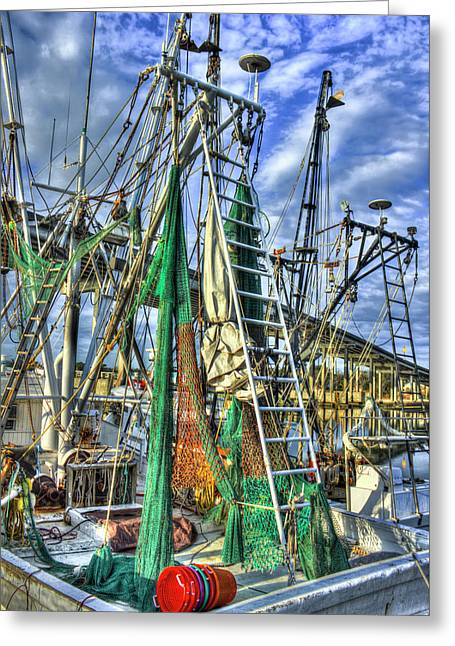 At The Ready Shrimpgear Savannah Georgia Art Greeting Card