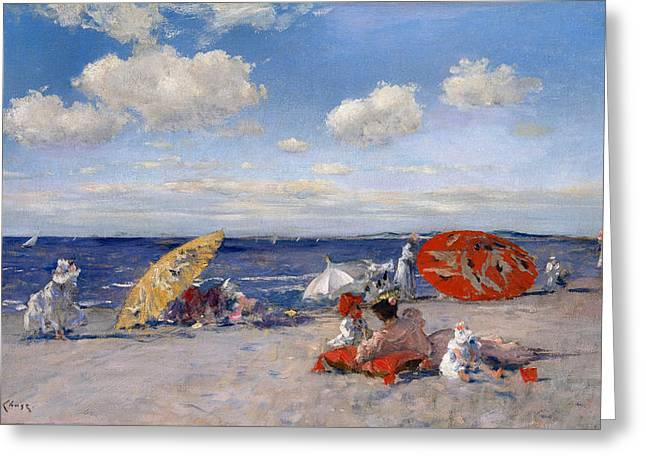 At The Seaside 1892  Greeting Card by William Merritt Chase