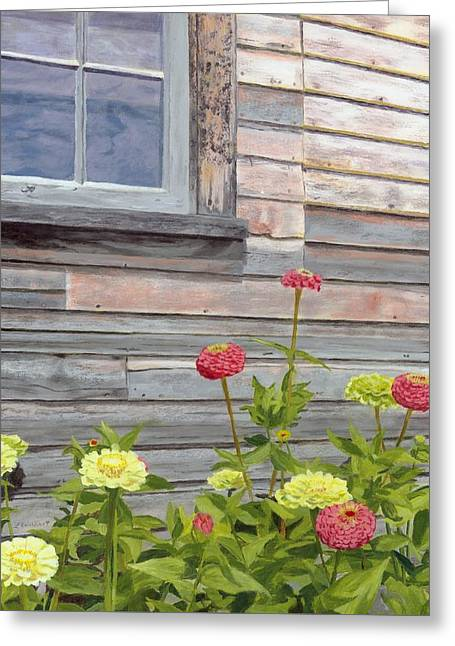 Greeting Card featuring the painting At The Shelburne by Lynne Reichhart