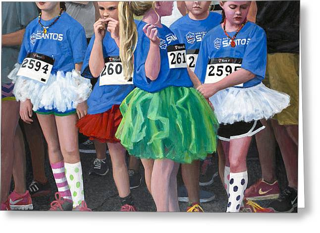 At The Start Of Their Run Greeting Card