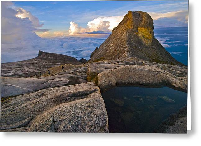 Greeting Card featuring the photograph At The Summit by Ng Hock How