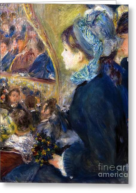 At The Theatre, By Pierre-auguste Renoir, 1876-7, National Galle Greeting Card