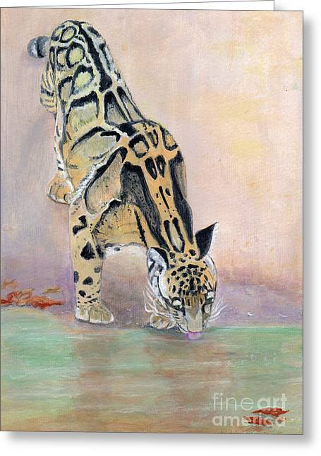 At The Waterhole - Painting Greeting Card