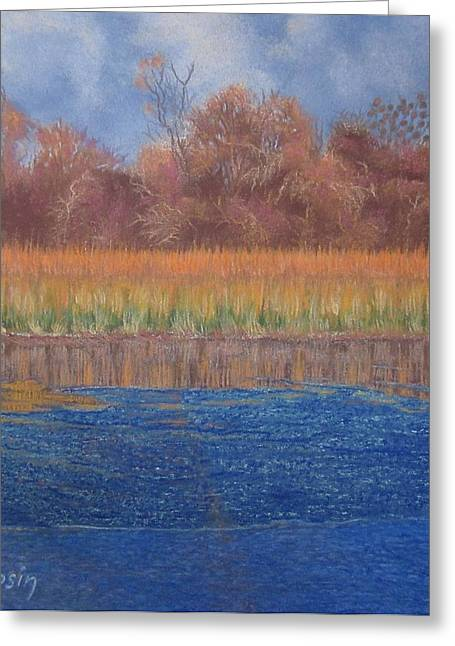 At The Water's Edge Greeting Card by Harvey Rogosin