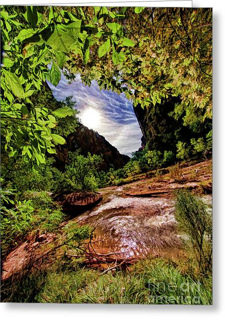At The Zion Riverside Walk Greeting Card by Blake Richards