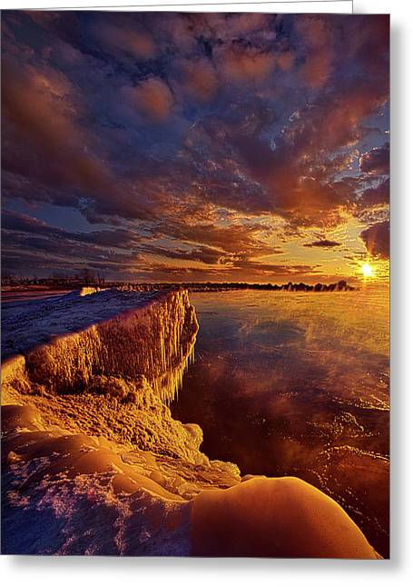 At World's End Greeting Card by Phil Koch