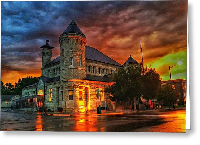Atchison Post Office  Greeting Card by Dustin Soph