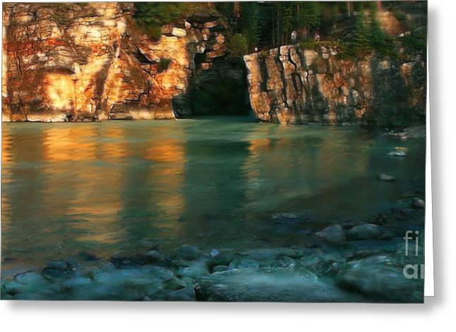 Athabasca At Sunset Greeting Card