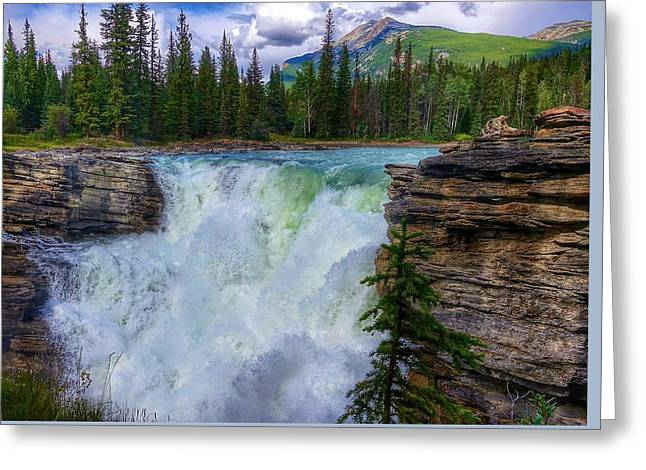 Athabasca Falls, Ab  Greeting Card by Heather Vopni
