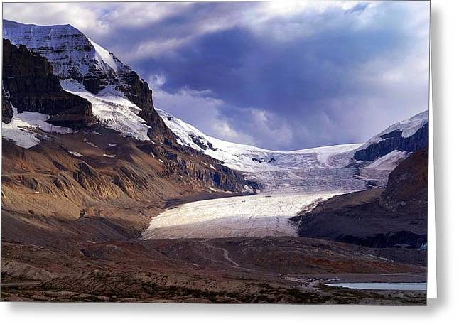 Athabasca Glacier Greeting Card by Heather Vopni