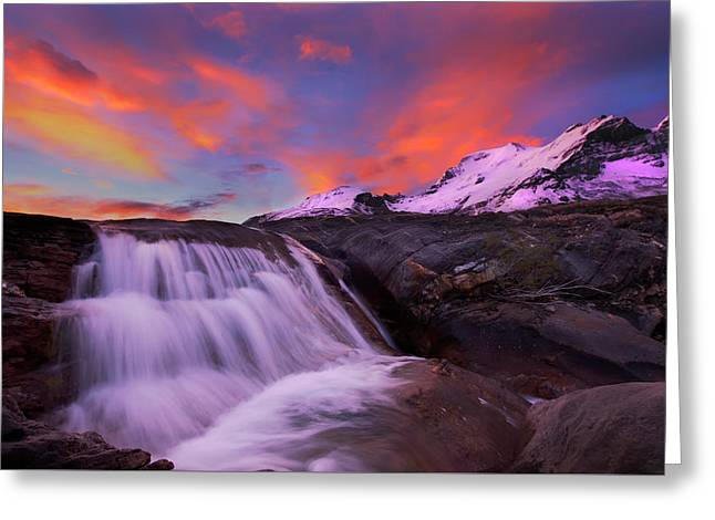 Athabasca On Fire Greeting Card by Dan Jurak