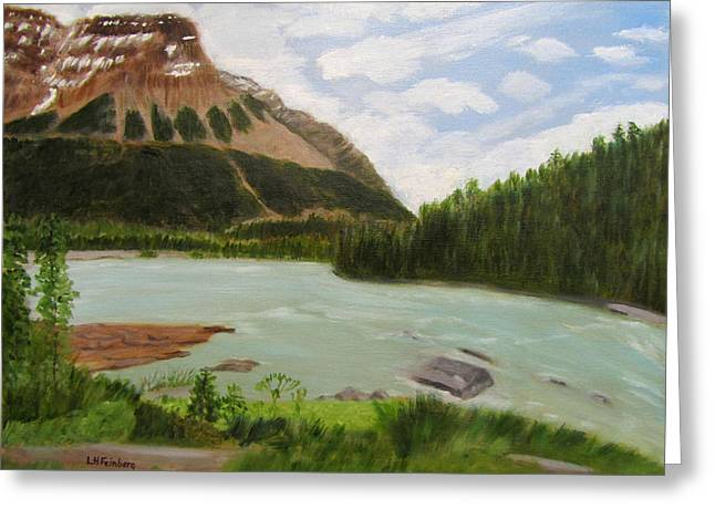 Greeting Card featuring the painting Athabasca River by Linda Feinberg