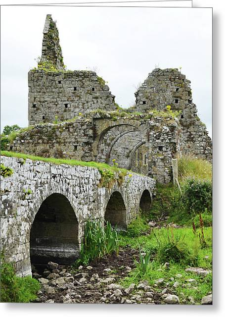 Athassel Priory Irish Medieval Abbey Ruins Bridge And Gatehouse Arches Tipperary  Greeting Card