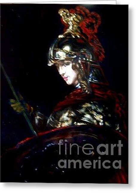 Athena After Rembrandt Greeting Card by Hidemi