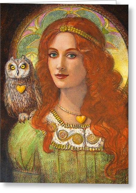 Athena And Her Owl- Wise Ones Greeting Card