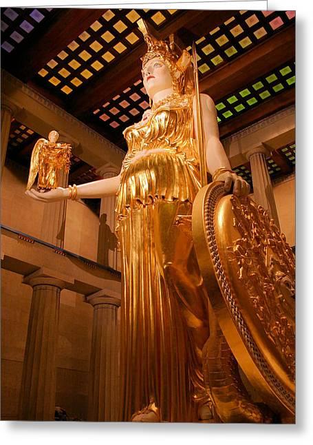Athena With Nike Greeting Card by Kristin Elmquist
