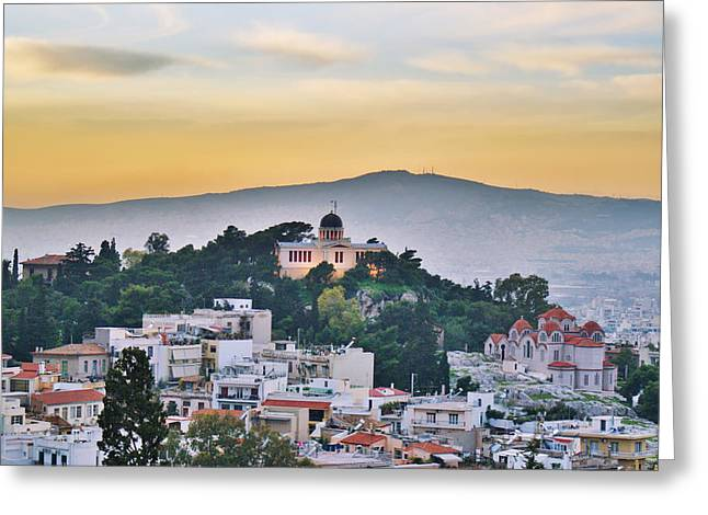 Acropolis Greeting Cards - Athens - Greece Greeting Card by Hristo Hristov