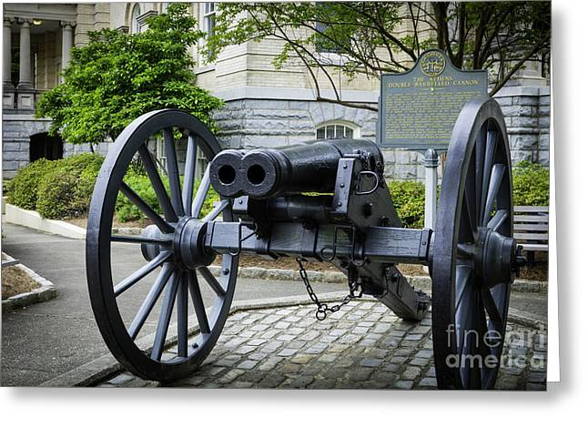 Athens Double-barreled Cannon Greeting Card by Brian Jannsen