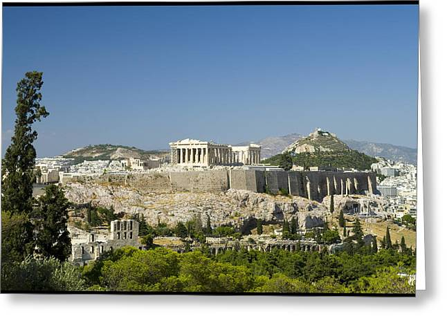 Athens Greeting Card by Julia Bridget Hayes