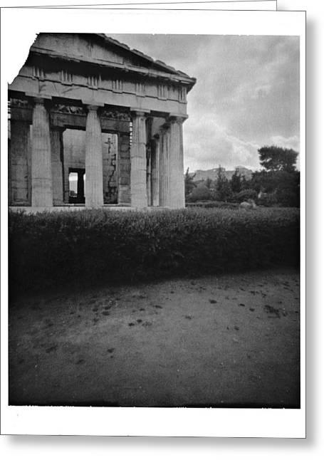 Athens Temple Of Ephesus Greeting Card by Luca Baldassari
