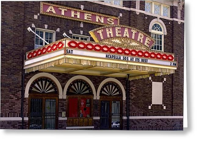 Athens Theatre - Top Billing Greeting Card