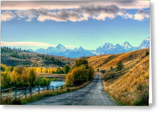 Atherton View Of Tetons Greeting Card